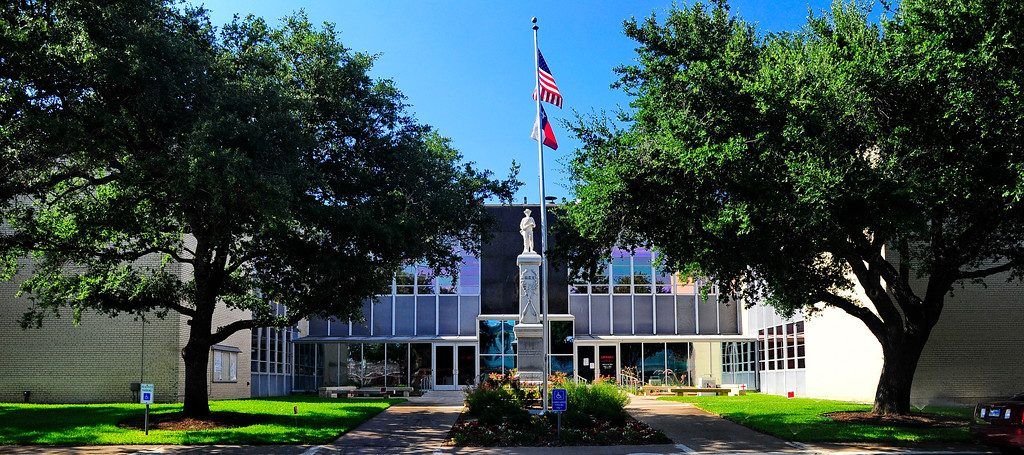 The Kaufman County Courthouse in Kaufman, TX